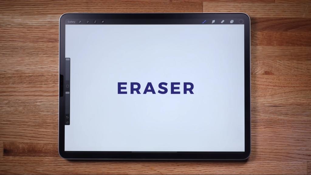 procreate eraser tool