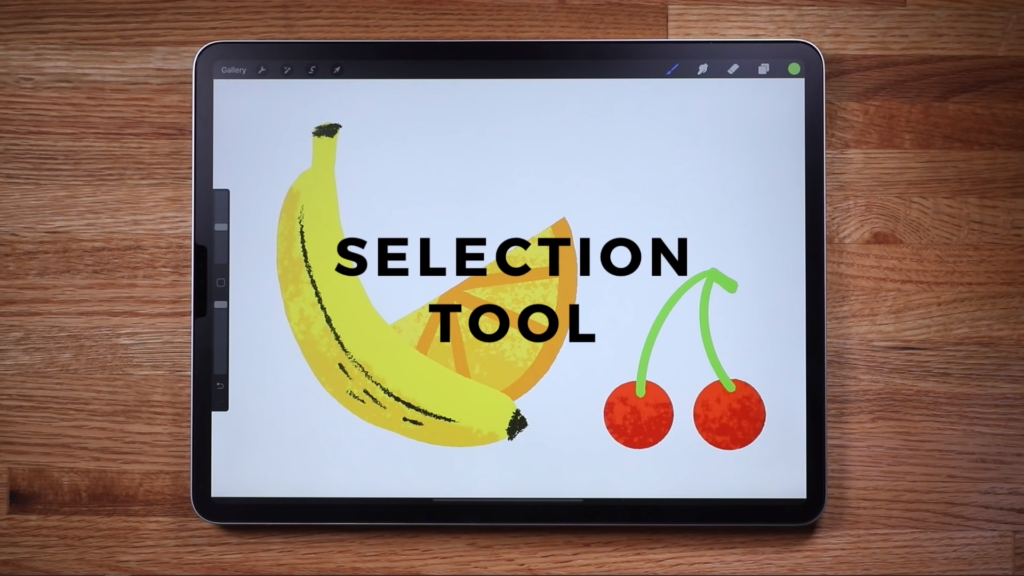 procreate selection tool
