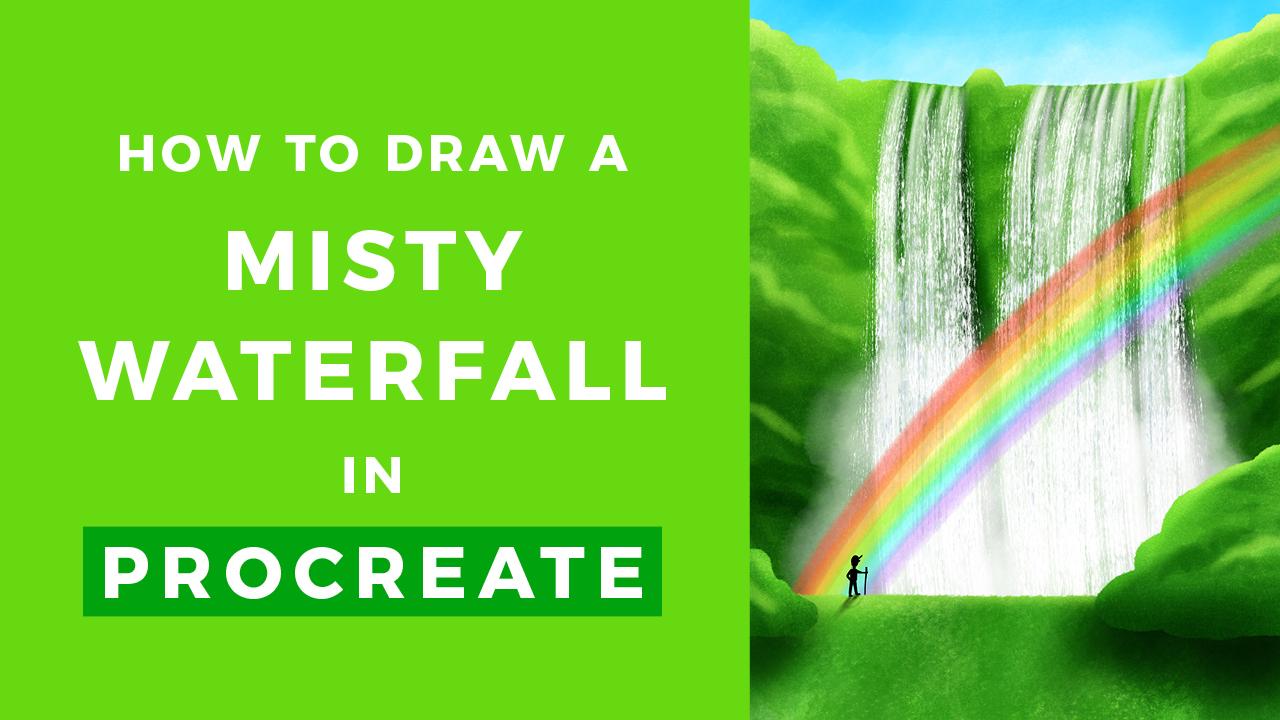 How to Draw a Waterfall // Procreate Tutorial • Bardot Brush