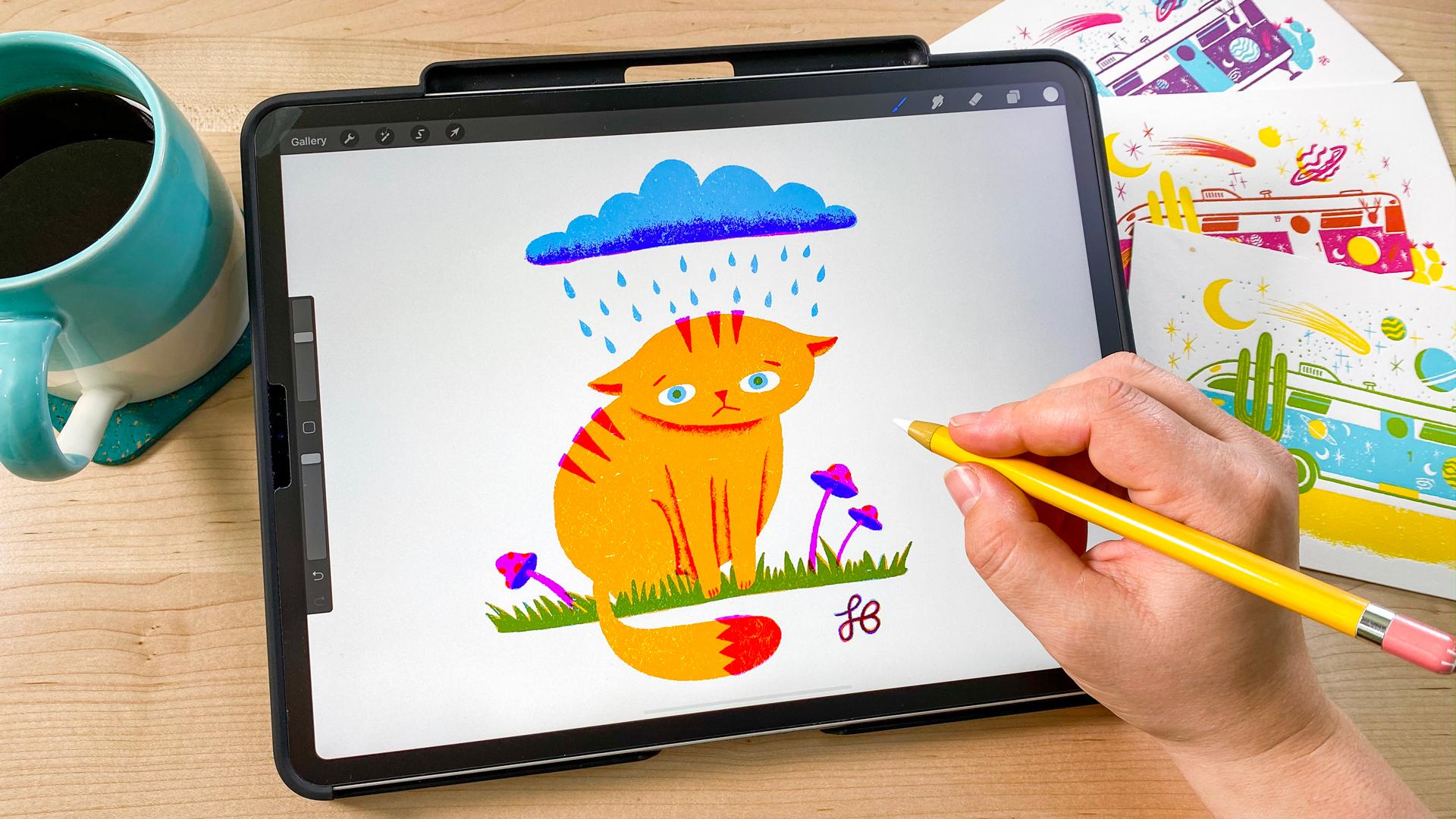 How To Make A Screen Print Effect In Procreate Bardot Brush