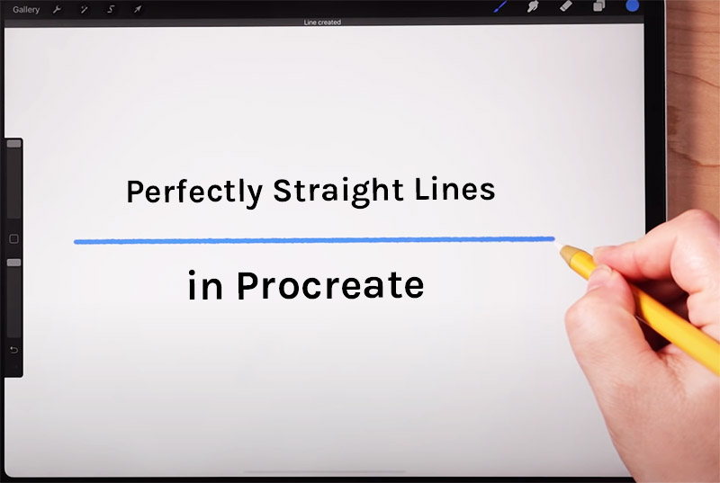 How to get perfectly straight lines in Procreate.