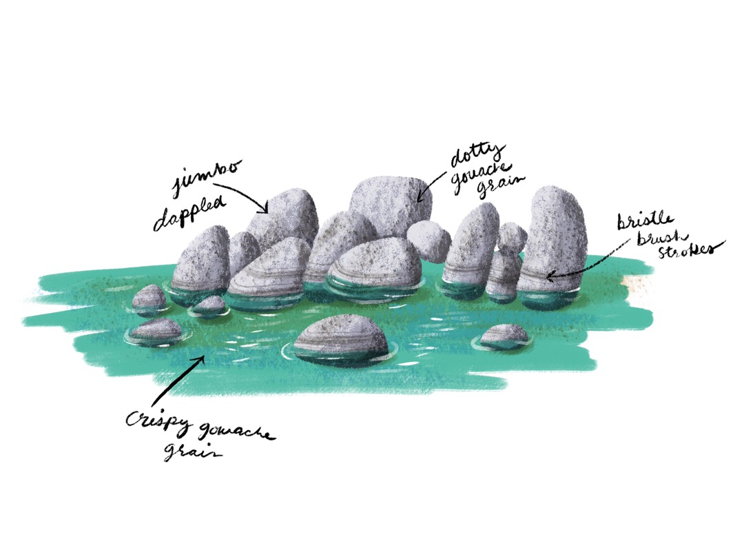 This was my favorite rendering of the boulders