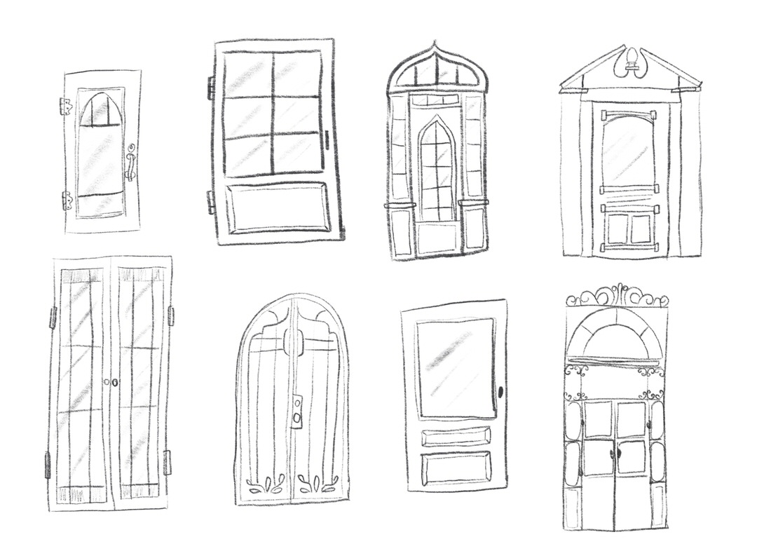 Brainstorming different door styles for my greenhouse.