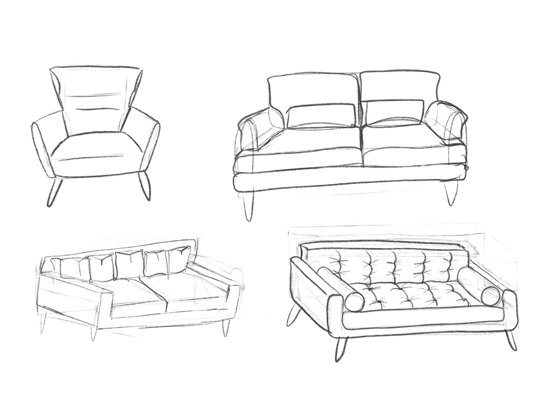 Sofa sketches.