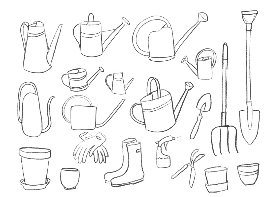 My tools and object sketches