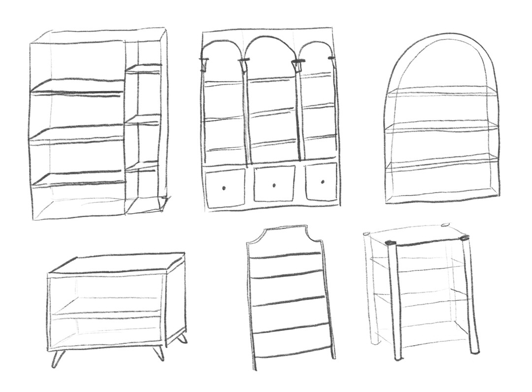 My room will have some shelves so I studied several styles.