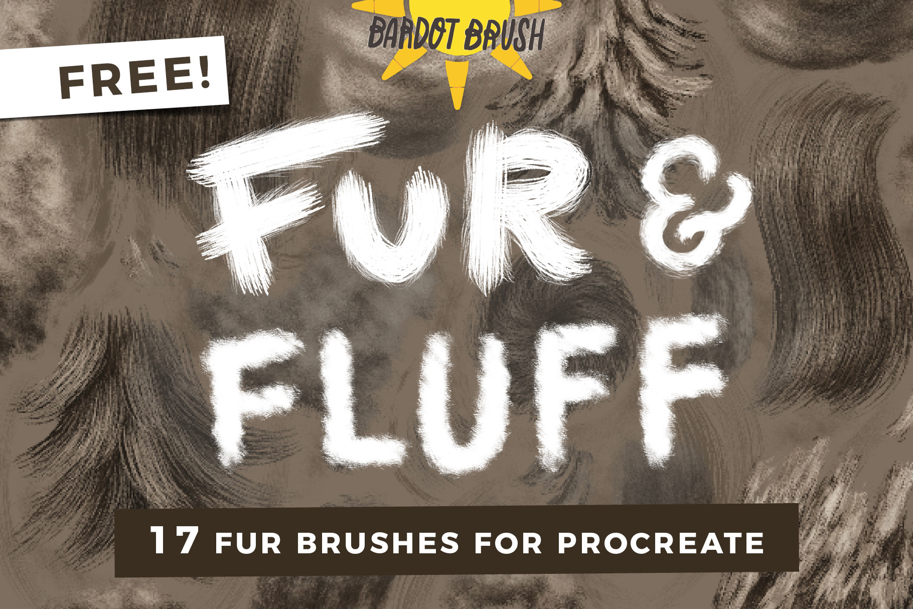 FREE Fur & Fluff Brushes for Procreate
