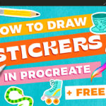How to Draw Stickers in Procreate