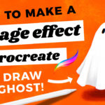Make an Easy Vintage Effect in Procreate // How to Draw a Cute Ghost!