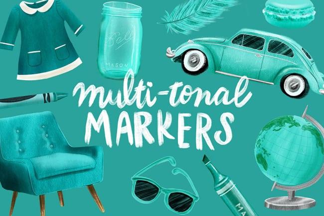 Multi-Tonal Markers