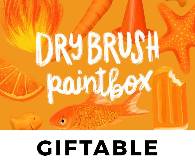 Dry Brush Paintbox // GIFT
