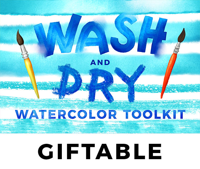 Wash & Dry Watercolor // GIFT