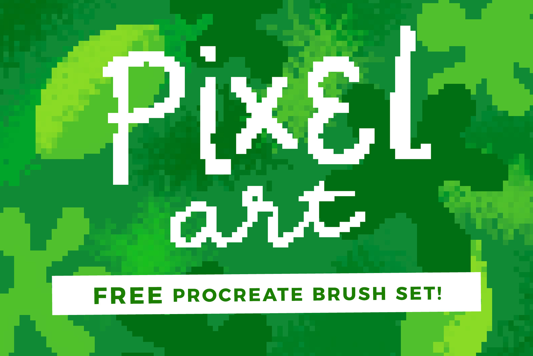 FREE Pixel Art for Procreate Brush Set